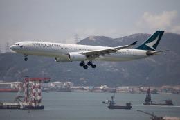 チャッピー・シミズさんが、香港国際空港で撮影したキャセイパシフィック航空 A330-343Xの航空フォト(写真)
