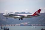 チャッピー・シミズさんが、香港国際空港で撮影したカーゴルクス・イタリア 747-4R7F/SCDの航空フォト(写真)