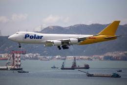 チャッピー・シミズさんが、香港国際空港で撮影したポーラーエアカーゴ 747-87UF/SCDの航空フォト(写真)