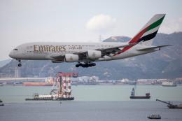 チャッピー・シミズさんが、香港国際空港で撮影したエミレーツ航空 A380-861の航空フォト(写真)