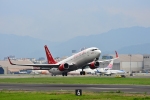 アカゆこさんが、台北松山空港で撮影したイースター航空 737-8KNの航空フォト(写真)