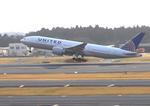 ふじいあきらさんが、成田国際空港で撮影したユナイテッド航空 777-224/ERの航空フォト(写真)