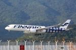 トールさんが、香港国際空港で撮影したフィンエアー A350-941XWBの航空フォト(写真)