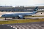 代打の切札さんが、関西国際空港で撮影したキャセイパシフィック航空 A330-343Xの航空フォト(写真)