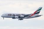 代打の切札さんが、関西国際空港で撮影したエミレーツ航空 A380-861の航空フォト(写真)