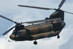 チャーリーマイクさんが、宇都宮飛行場で撮影した陸上自衛隊 CH-47Jの航空フォト(写真)