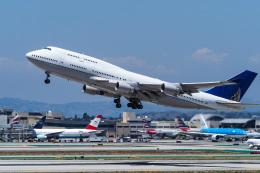 LAX Spotterさんが、ロサンゼルス国際空港で撮影したユナイテッド航空 747-422の航空フォト(飛行機 写真・画像)