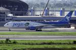 planetさんが、スワンナプーム国際空港で撮影したペガサス・フライ 767-341/ERの航空フォト(写真)