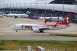 T.Sazenさんが、関西国際空港で撮影したティーウェイ航空 737-800の航空フォト(飛行機 写真・画像)