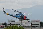 おぶりがーどさんが、松本空港で撮影した山梨県警察 412EPの航空フォト(写真)