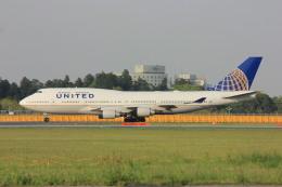 メンチカツさんが、成田国際空港で撮影したユナイテッド航空 747-422の航空フォト(飛行機 写真・画像)
