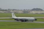 しかばねさんが、嘉手納飛行場で撮影したアメリカ空軍 RC-135S (717-148)の航空フォト(写真)