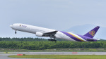 パンダさんが、新千歳空港で撮影したタイ国際航空 777-3D7の航空フォト(飛行機 写真・画像)