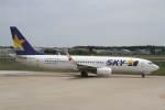 プルシアンブルーさんが、茨城空港で撮影したスカイマーク 737-86Nの航空フォト(写真)
