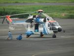 ヒコーキグモさんが、岡南飛行場で撮影した中日本航空 AS332L1 Super Pumaの航空フォト(写真)