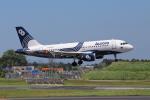 sumihan_2010さんが、成田国際空港で撮影したオーロラ A319-111の航空フォト(写真)