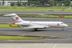 Cozy Gotoさんが、成田国際空港で撮影した中一航空 BD-700-1A11 Global 5000の航空フォト(写真)