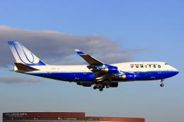 SGR RT 改さんが、成田国際空港で撮影したユナイテッド航空 747-422の航空フォト(飛行機 写真・画像)
