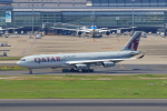 たまさんが、羽田空港で撮影したカタールアミリフライト A340-313Xの航空フォト(写真)