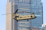 たまさんが、赤坂プレスセンターで撮影したアメリカ陸軍 CH-47Fの航空フォト(写真)