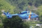 らむさんが、静岡ヘリポートで撮影した茨城県警察 BK117C-1の航空フォト(写真)