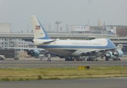ふうちゃんさんが、伊丹空港で撮影したアメリカ空軍 VC-25A (747-2G4B)の航空フォト(飛行機 写真・画像)