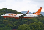 あしゅーさんが、福岡空港で撮影したチェジュ航空 737-8K5の航空フォト(飛行機 写真・画像)