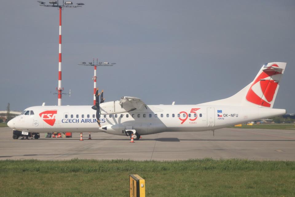 ぽっぽさんのチェコ航空 ATR 72 (OK-NFU) 航空フォト