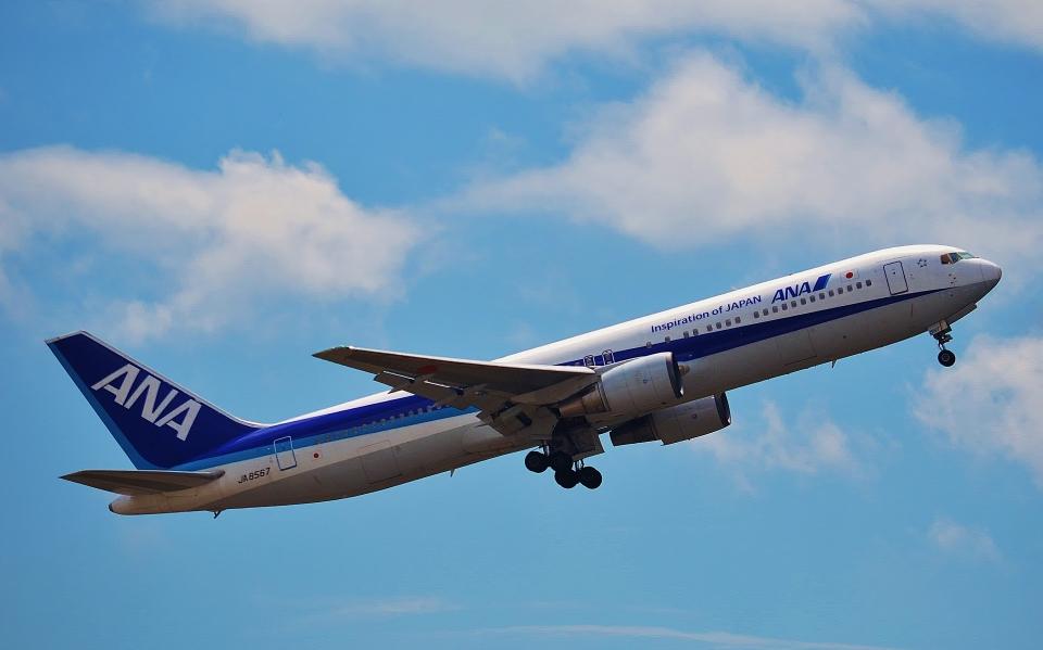 鉄バスさんの全日空 Boeing 767-300 (JA8567) 航空フォト
