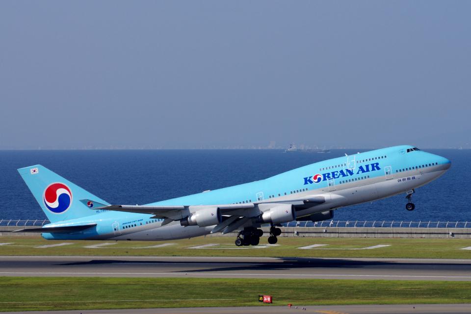 yabyanさんの大韓航空 Boeing 747-400 (HL7404) 航空フォト