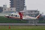 Joshuaさんが、名古屋飛行場で撮影した朝日航洋 S-76Cの航空フォト(写真)
