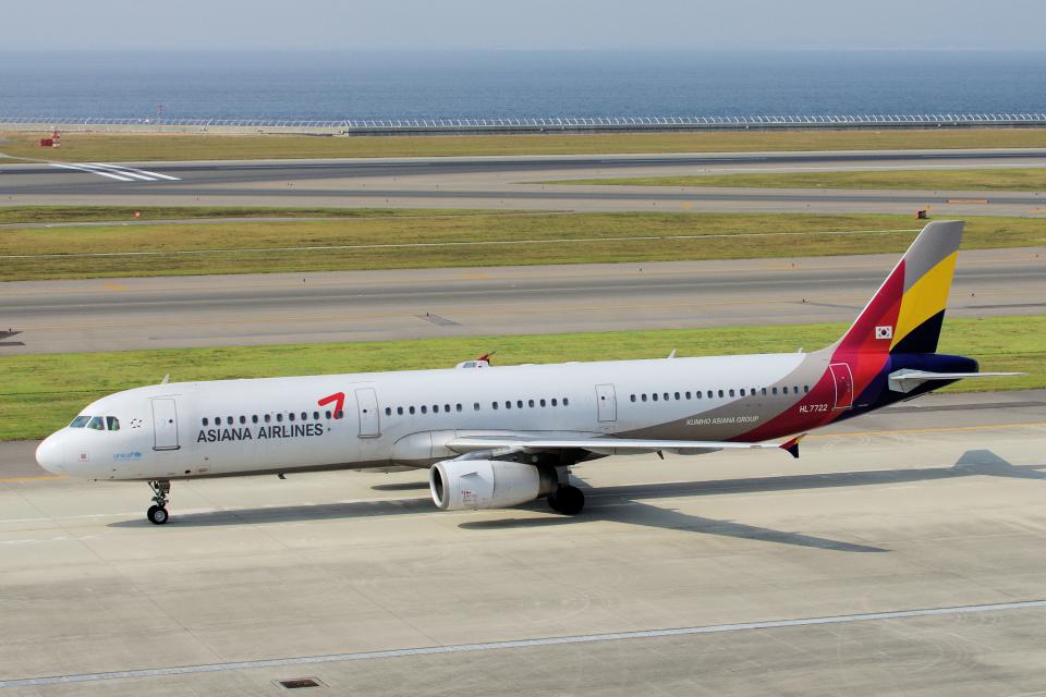 yabyanさんのアシアナ航空 Airbus A321 (HL7722) 航空フォト