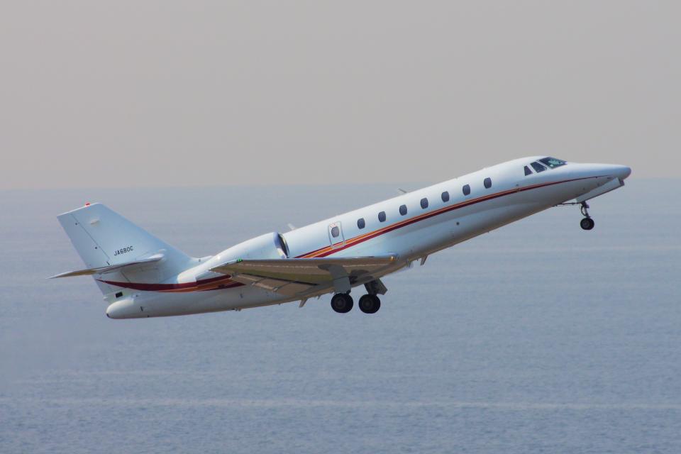yabyanさんの朝日航洋 Cessna 680 Citation Sovereign/Sovereign+ (JA680C) 航空フォト
