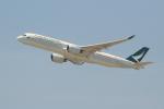 OMAさんが、香港国際空港で撮影したキャセイパシフィック航空 A350-941XWBの航空フォト(飛行機 写真・画像)