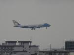 うすさんが、伊丹空港で撮影したアメリカ空軍 VC-25A (747-2G4B)の航空フォト(写真)