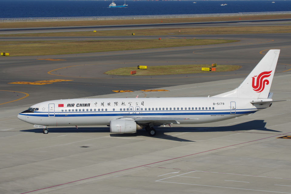 yabyanさんの中国国際航空 Boeing 737-800 (B-5179) 航空フォト