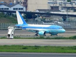 チャレンジャーさんが、羽田空港で撮影したヤーリアン・ビジネスジェット A318-112 CJ Eliteの航空フォト(写真)