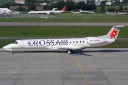 Hariboさんが、チューリッヒ空港で撮影したクロスエア ERJ-145LUの航空フォト(飛行機 写真・画像)