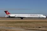 Hariboさんが、名古屋飛行場で撮影したハーレクィンエア MD-81 (DC-9-81)の航空フォト(写真)
