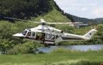 フクシマ119さんが、北上川河川歴史公園で撮影した岩手県防災航空隊 AW139の航空フォト(飛行機 写真・画像)