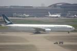 なまくら はげるさんが、羽田空港で撮影したキャセイパシフィック航空 777-31Hの航空フォト(写真)
