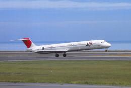 動物村猫君さんが、大分空港で撮影した日本航空 MD-81 (DC-9-81)の航空フォト(飛行機 写真・画像)