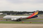 KAZFLYERさんが、成田国際空港で撮影したアシアナ航空 747-48EF/SCDの航空フォト(写真)