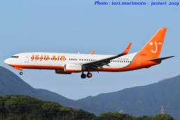 いおりさんが、福岡空港で撮影したチェジュ航空 737-8ALの航空フォト(飛行機 写真・画像)