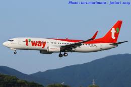 いおりさんが、福岡空港で撮影したティーウェイ航空 737-8ASの航空フォト(写真)
