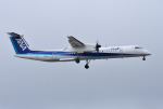 mojioさんが、成田国際空港で撮影したANAウイングス DHC-8-402Q Dash 8の航空フォト(飛行機 写真・画像)