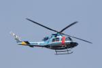 ショウさんが、泉大津で撮影した大阪府警察 412EPの航空フォト(写真)