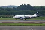T.Sazenさんが、成田国際空港で撮影したオーロラ A319-111の航空フォト(飛行機 写真・画像)