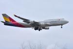 mojioさんが、成田国際空港で撮影したアシアナ航空 747-48Eの航空フォト(飛行機 写真・画像)