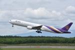 mike48さんが、新千歳空港で撮影したタイ国際航空 777-3D7の航空フォト(写真)